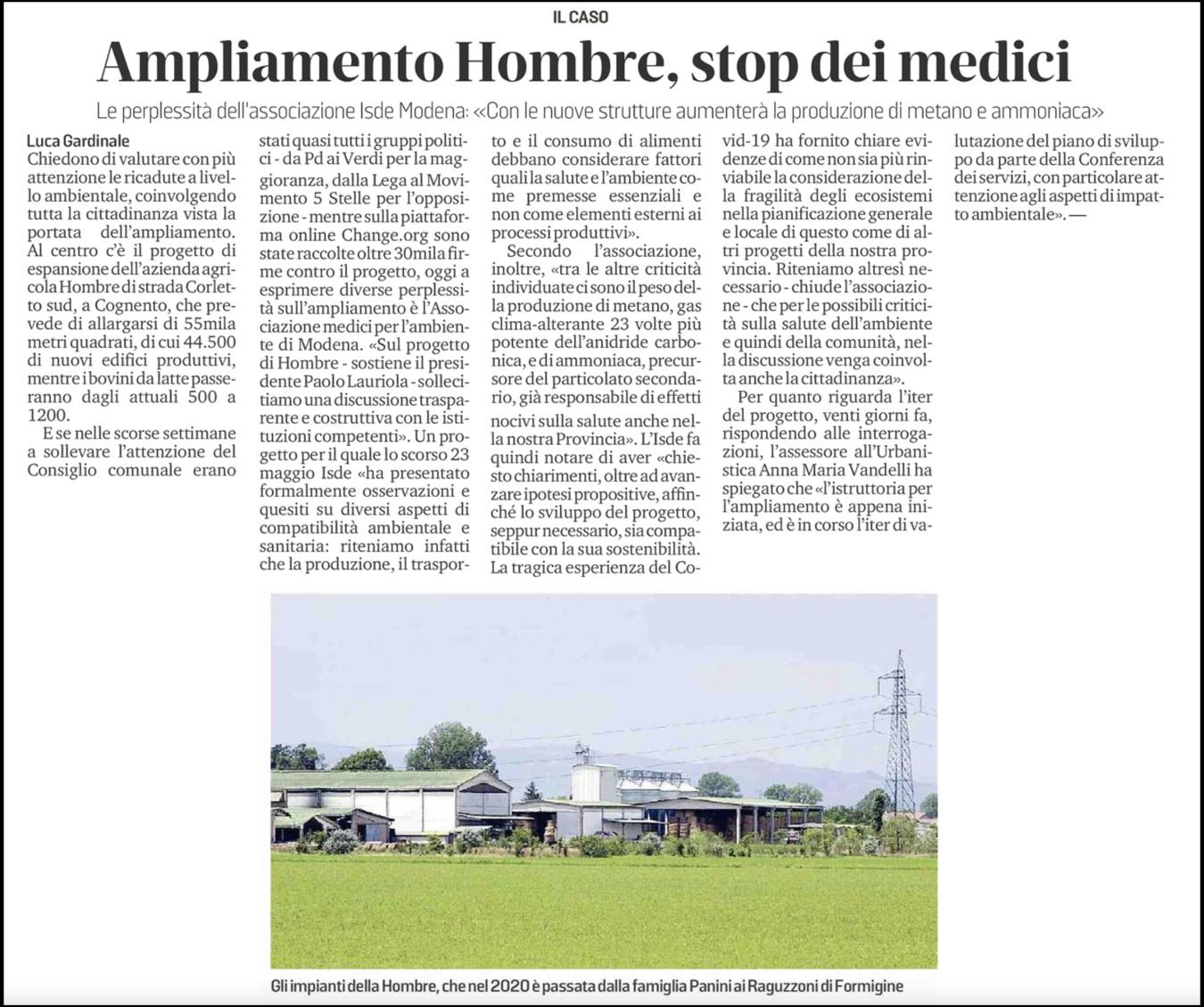Gazzetta di Modena - 9 Giugno 2021